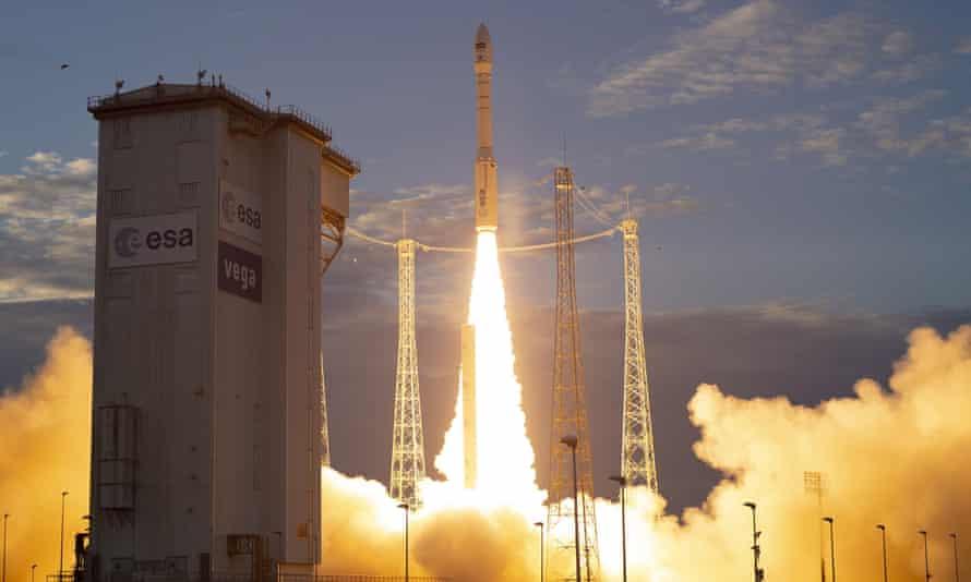 Launch of ESA's Earth Explorer Aeolus satellite