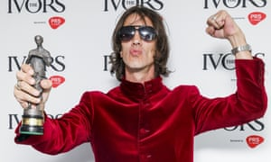 Richard Ashcroft at the Ivor Novello awards, where he won outstanding contribution to British music.