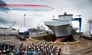 The Queen named the largest warship built in the UK at a ceremony in Fife's Rosyth dockyard in 2014.
