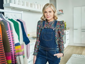 Fashion designer Marielle Wyse, the founder of Wyse London, photographed at home with some of her collection.