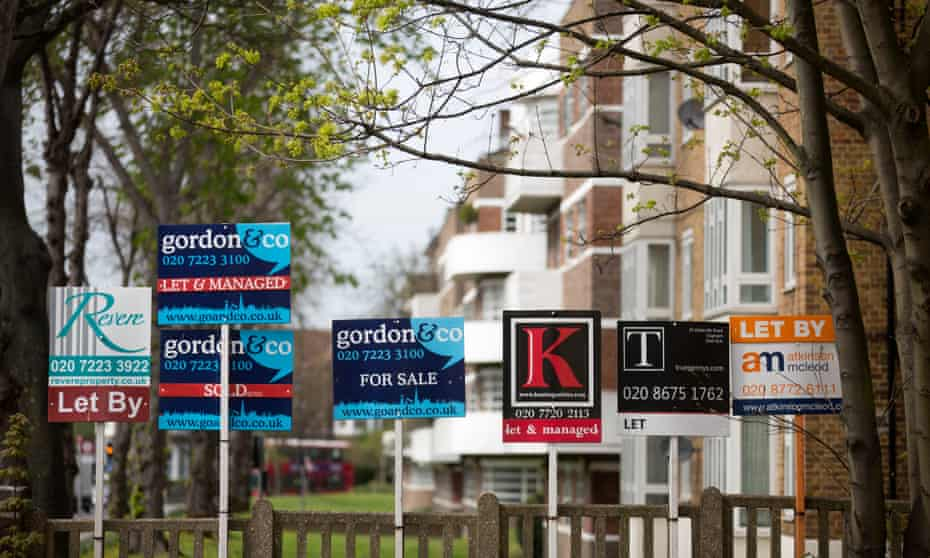 For sale and to let signs in south London