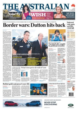 front page of the Australian