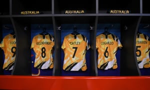Matildas shirts in the dressing room