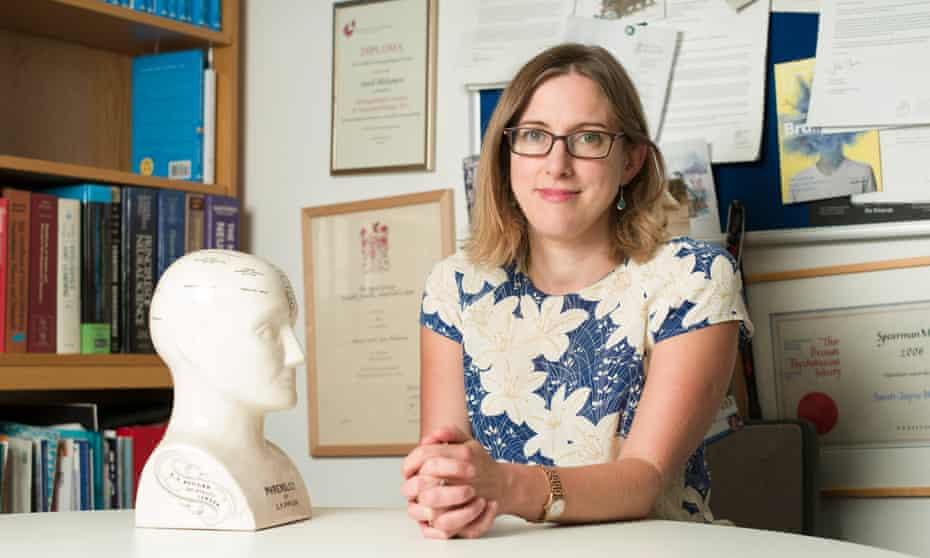 Sarah-Jayne Blakemore, professor in cognitive neuroscience, in her office.