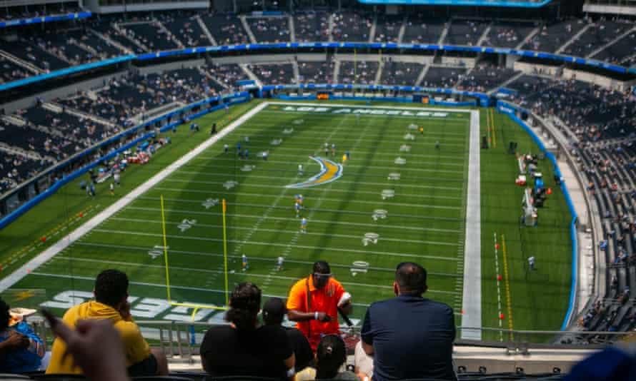 scene of SoFi stadium