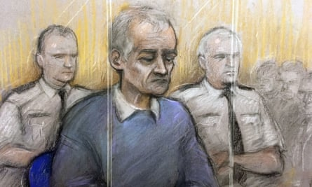 A court artist sketch of Barry Bennell during his trial at Liverpool Crown Court in February. Bennell, 64, was convicted of 50 child sexual offences and sentenced to 30 years in prison