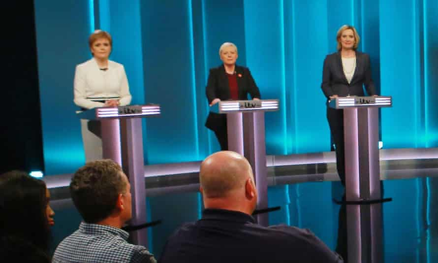 The remain campaign fielded an all-female team – Nicola Sturgeon, Angela Eagle and Amber Rudd – to debate with Johnson on TV.
