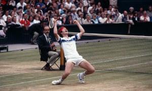 john mcenroe celebrates winning wimbledon 1981
