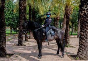 Valencia, Spain: Helena Gonzalvo Sánchez, mounted police officer