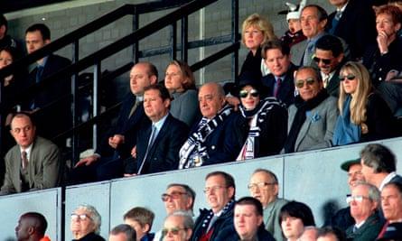 Michael Jackson watches Fulham beat Wigan.