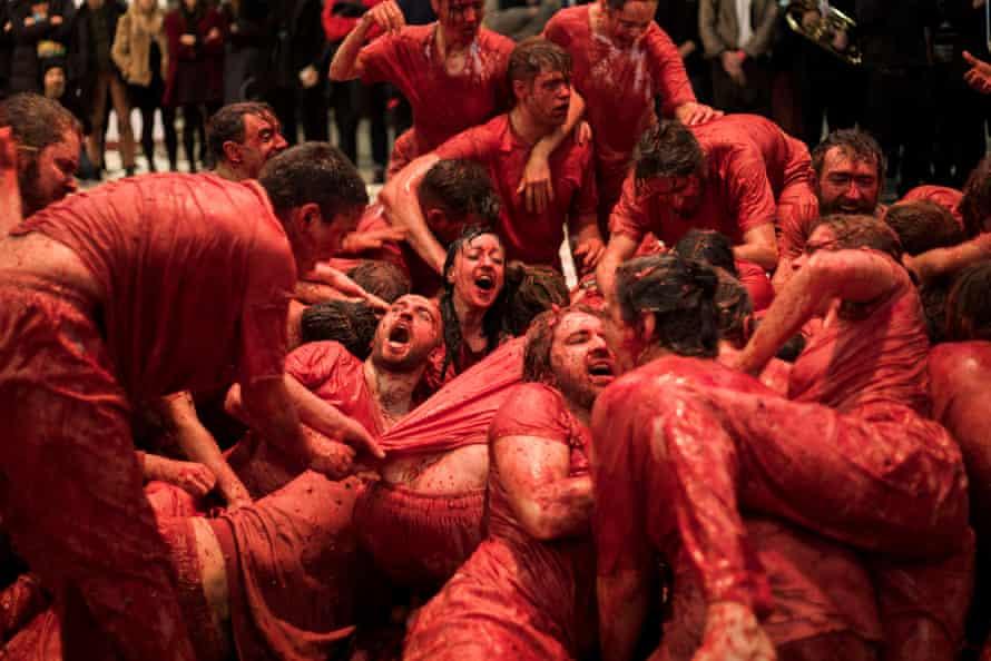 Austrian artist Hermann Nitsch's Dark Mofo performance piece 150.Action