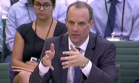 Dominic Raab revealed 'the extent of his ignorance' on food production to the Brexit committee during an extended hearing on Tuesday.