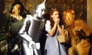 Judy Garland and company in The Wizard of Oz