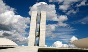 Congresso Nacional, designed by Oscar Niemeyer, Brasilia, Brazil