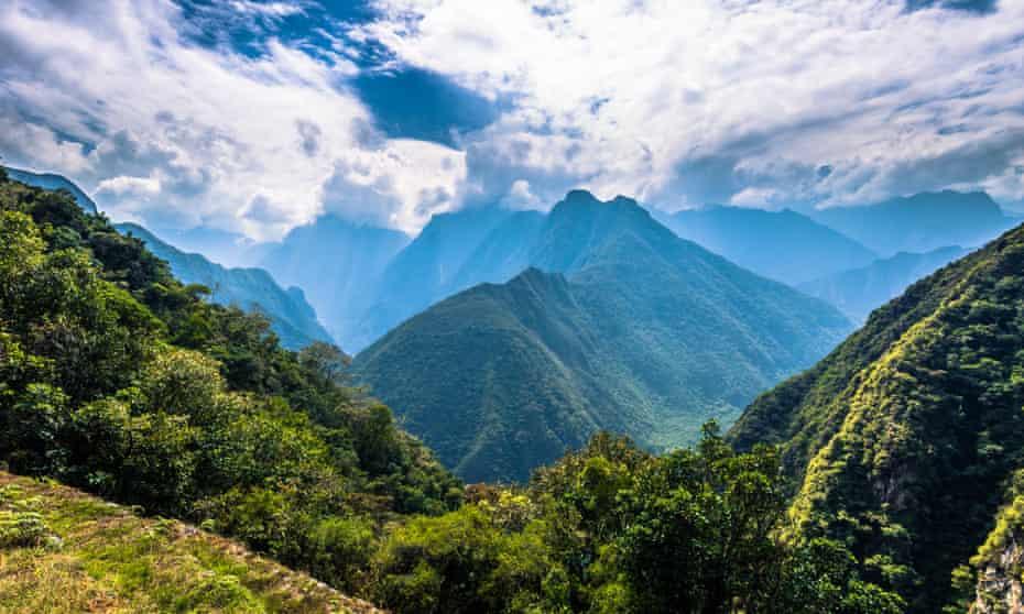 View of the Inca Trail, Peru
