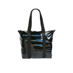 Black holographic bag, £49, rains.com