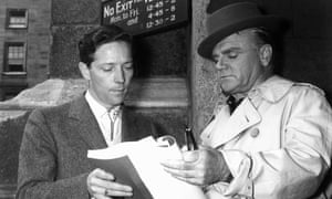 Michael Anderson with James Cagney, right, on the set of Shake Hands With the Devil, 1959.