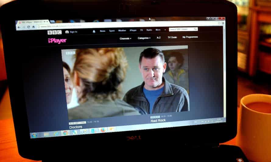 BBC iPlayer displayed on a laptop