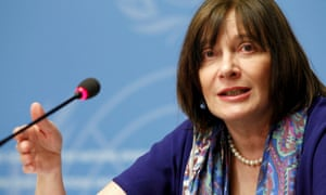 WHO's assistant director general Marie-Paule Kieny at news briefing in Geneva