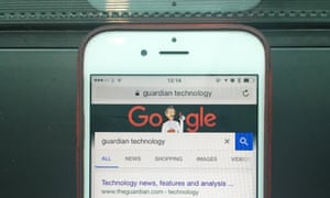 iPhone showing Google as the default Safari search engine