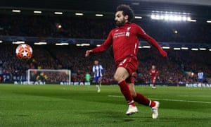 Mohamed Salah will be one of Liverpool's main threats for Porto in the second leg.
