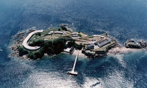 An aerial view of Drake's Island, Plymouth Sound