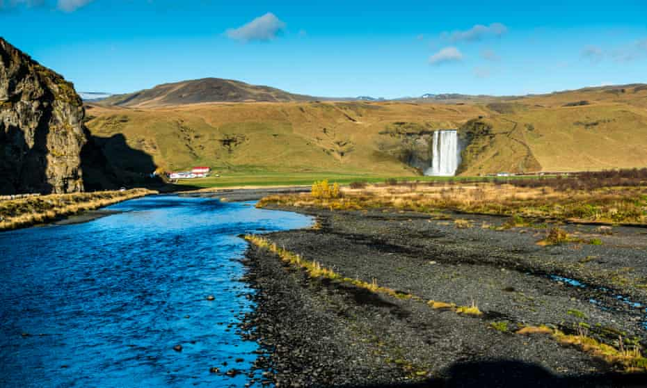 Skógafoss Waterfall.