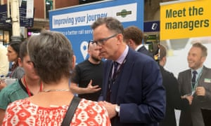 Charles Horton, who has resigned as chief executive GTR, at Victoria Station, London, in 2016.