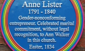 Blue plaque recognising Anne Lister