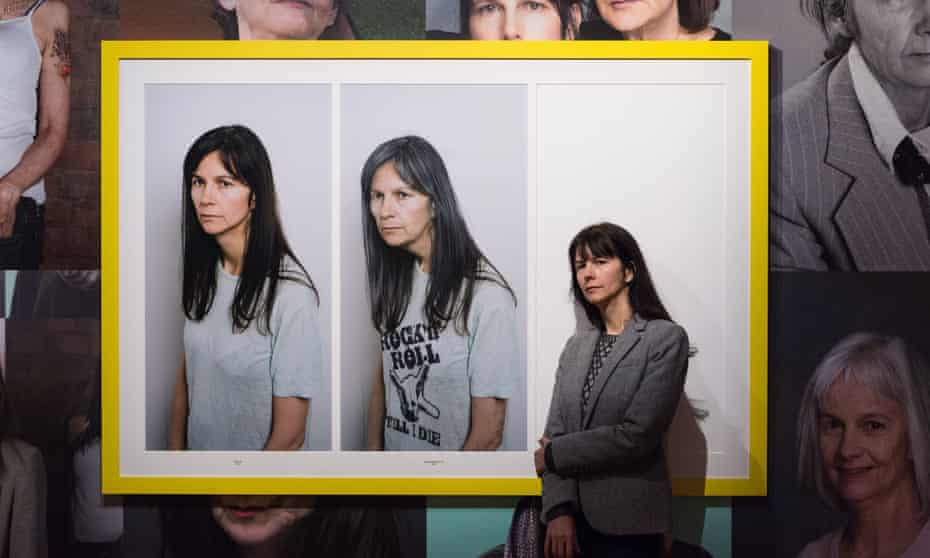 Gillian Wearing with a triptych featured in National Portrait Gallery show