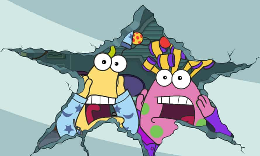 Cartoon characters Zig and Zag looking startled