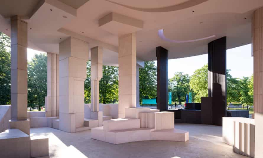 'A separate place': the interior of the Serpentine Pavilion.