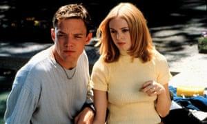 Rose Mc Gowan with Matthew Lillard in Wes Craven's 1996 classic, Scream