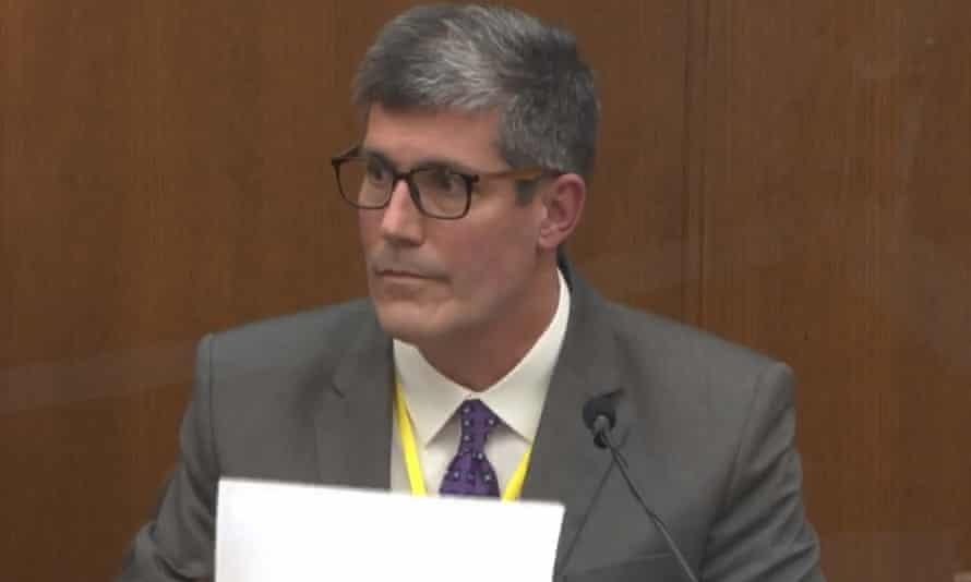Andrew Baker testifies in the Derek Chauvin trial in Minneapolis.
