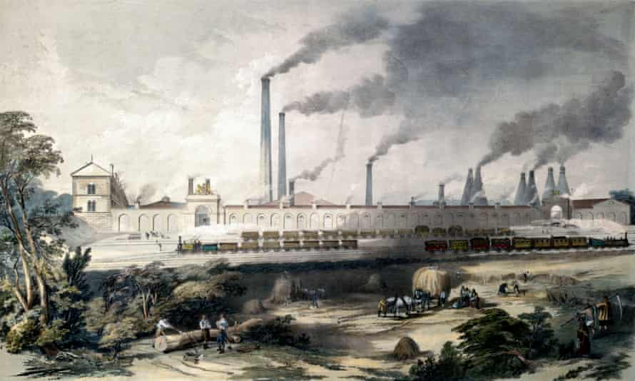 The Cyclops Steel Works in Sheffield in the mid-19th century.