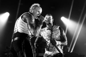 Keith Flint and Maxim Reality of the Prodigy perform at Brixton Academy Brixton on December 21, 2017.