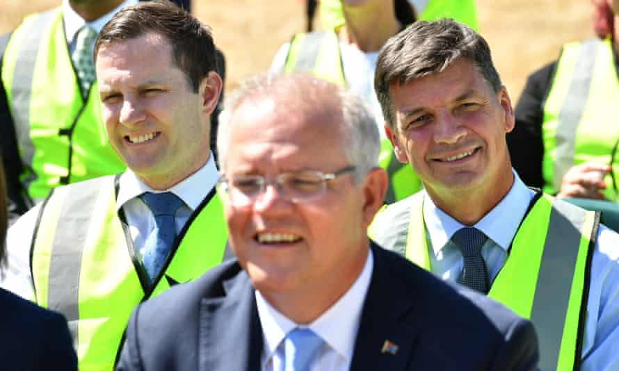 The Morrison government is attempting to spark divisions between Labor and the union movement over the opposition's 45% emissions reduction target