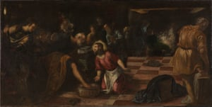 Jacopo Tintoretto, Christ washing the Feet of the Disciples