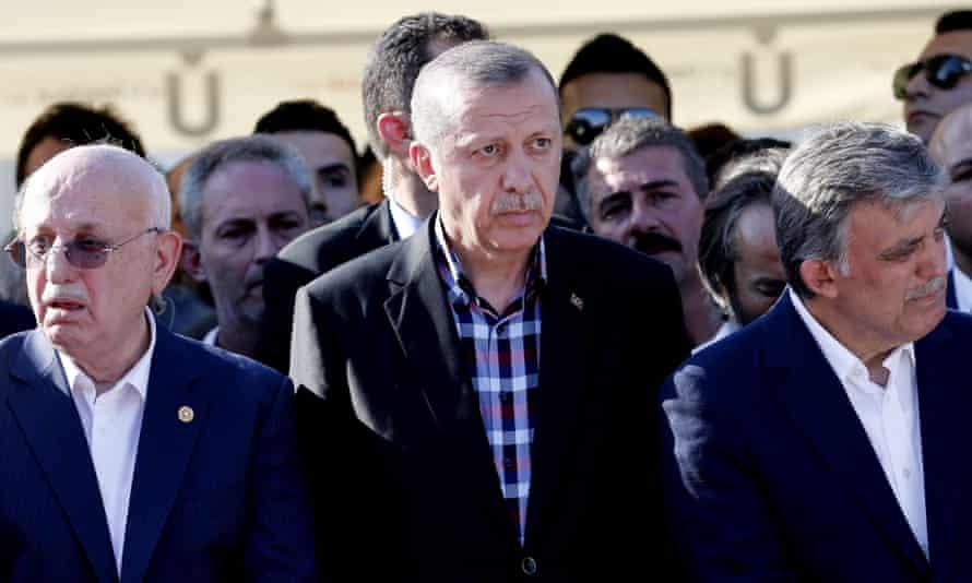 Recep Tayyip Erdoğan at a funeral