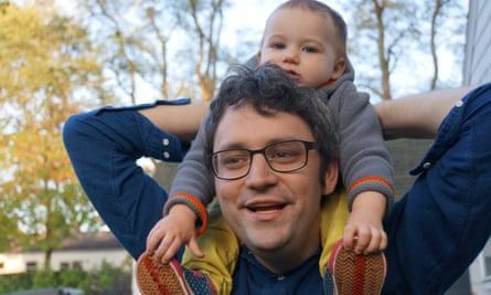 Jayson Green with baby Greta, 2014