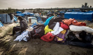 A view of 'the jungle' in Calais.