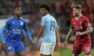 Kelechi Iheanacho, Leroy Sané, and Liverpool's Alberto Moreno