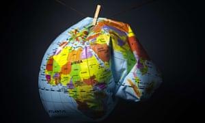 deflated globe