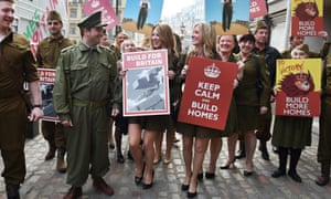 Demonstrators at the Homes for Britain rally in London on 17 March.
