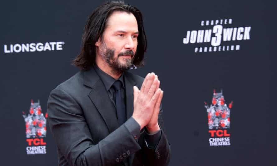 The world's crush? Keanu Reeves promoting his new John Wicks film