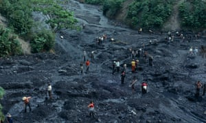 Illegal emerald mining, Colombia