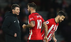 Charlie Austin is replaced by Shane Long during Southampton's home game with Manchester City. The striker admitted making a gesture towards away fans as he was substituted.