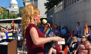 Ambrosia Starling, a drag queen who has been dubbed the nemesis of Alabama supreme court chief justice Roy Moore.