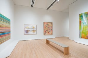 Gerhard Richter and Sigmar Polke paintings on show at SFMOMA.