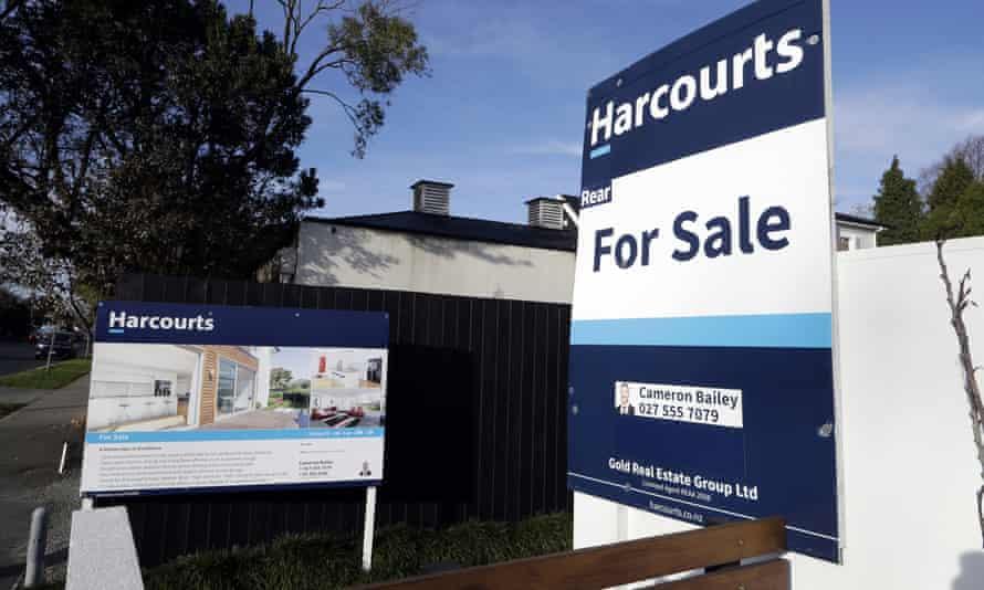 A house for sale in Christchurch in February. The New Zealand government has targeted property speculators in its latest attempt to cool the housing market.